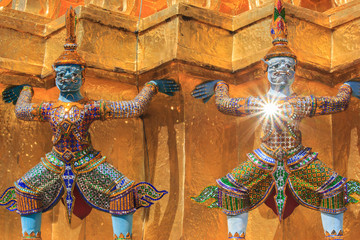 Guardian of Wat Pra Kaew Grand Palace Bangkok Thailand
