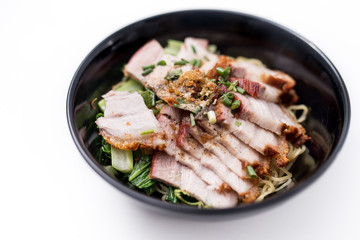 noodles with crispy pork