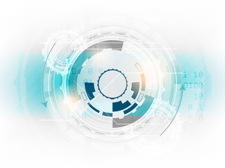Technology abstract vector background with gear and space for your content