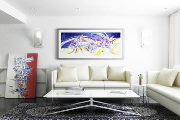 Gemälde im Wohnraum