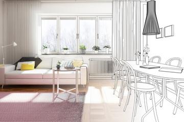 Praktische Wohnungseinrichtung (Entwurf)