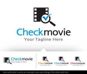 Check Movie Logo Design Template Vector