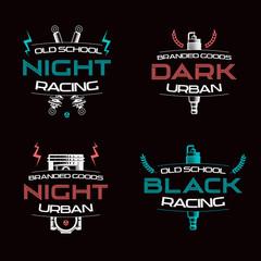 Dark racing urban badges