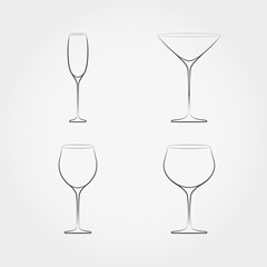 Simple set of classic stemware.