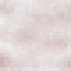 Pastel mosaic background with squares and circles