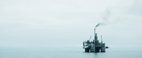 Offshore Oil Platform in the North Sea