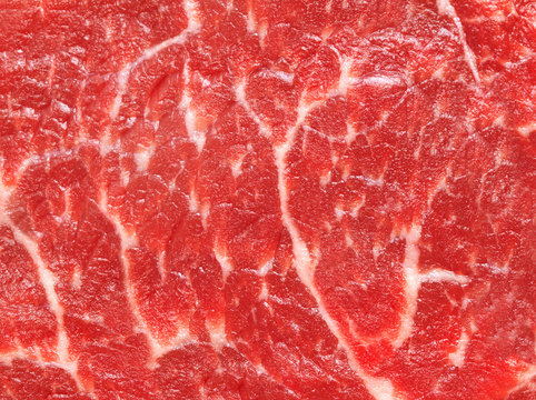 Background texture of raw marbled meat
