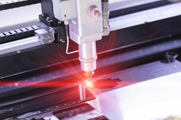 CNC laser cutting metal sheet