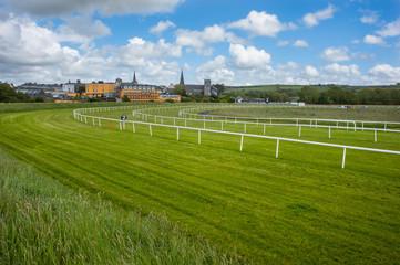 Horse racetrack landscape