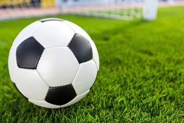 Soccer, Ball, Goal.
