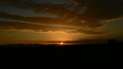 Nice light sunset lanscap in Nan Thailand