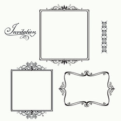 Frame with calligraphic scrolls.