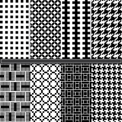 Geometric and Houndstooth seamless pattern set