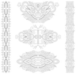 unique coloring book page for adults - floral authentic carpet d