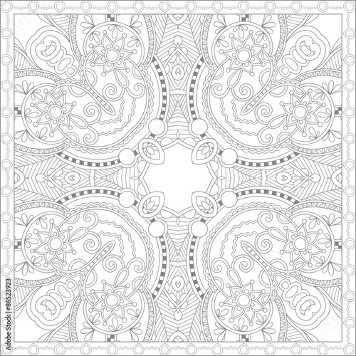 Unique Coloring Book Square Page For Adults Stock Image And Royalty Free Vector Files On