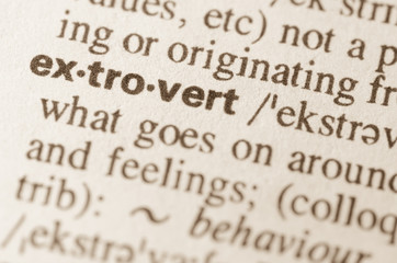 Dictionary definition of word extrovert
