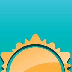 Abstract creative sun design vector illustration