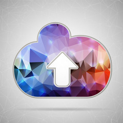 Abstract Creative concept vector icon of cloud for Web and