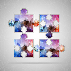 Abstract Creative concept vector icon of puzzle for Web and