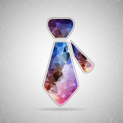 Abstract Creative concept vector icon of necktie for Web and