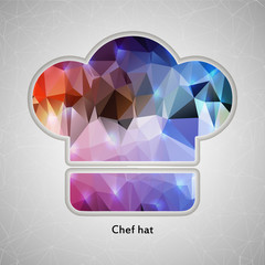 Abstract Creative concept vector icon of chef hat for Web and
