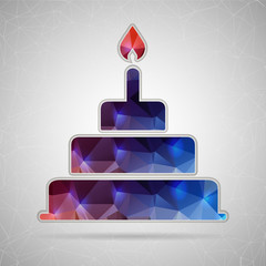 Abstract Creative concept vector icon of cake for Web and Mobile