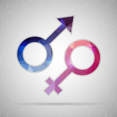 Abstract Creative concept vector icon of gender for Web and