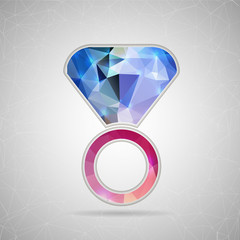 Abstract Creative concept vector icon of ring for Web and Mobile