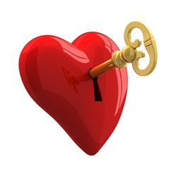 key and heart