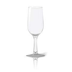 Blank tall transparent photo realistic isolated on white wine