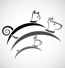 Animal pets logo vector