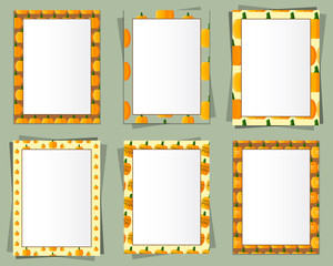 A4 and A3 Format paper design vector with text, picture frame
