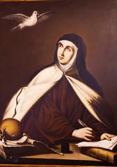 Saint Teresa Painting Convento de Santa Teresa Avila Castile Spa