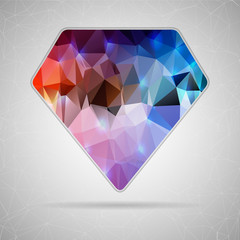 Abstract Creative concept vector icon of diamond for Web and