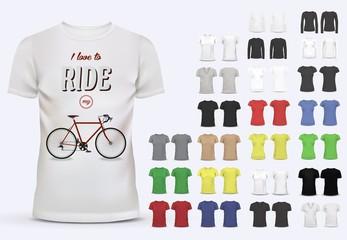 Wall Mural - T-shirt template set for men and women