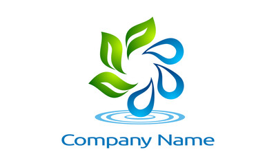 water, drop, green, leaf, recycle, infinity, vector, logo,