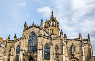 View of St. Giles' Cathedral in Edinburgh - Scotland
