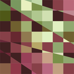Deep Tuscan Red Purple and Green Abstract Low Polygon Background