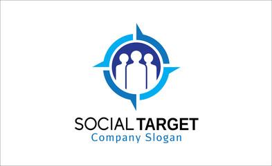 Social Target Logo template