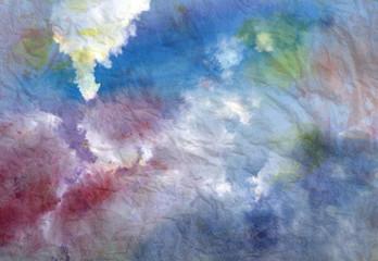 Beautiful watercolor sky