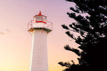 Cleveland lighthouse in the late afternoon. Brisbane, Queensland, Australia.