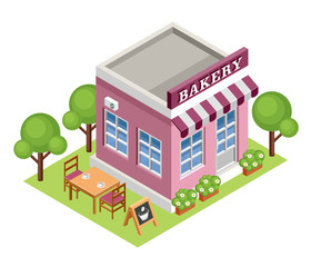 Isometric bakery.