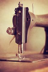 Vintage sewing machine closeup