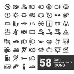 Car Indicator Lights Icons
