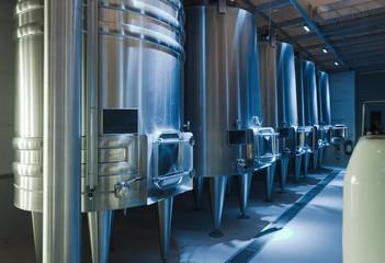 stell barrels in winemaker
