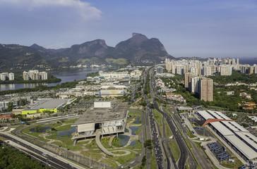 Rio de Janeiro, Barra da Tijuca aerial view