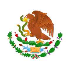 Eagle, symbol of the Mexican flag