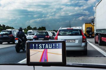 Traffic jam on German autobahn