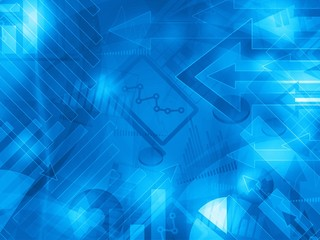 blue data corporate abstract financial background