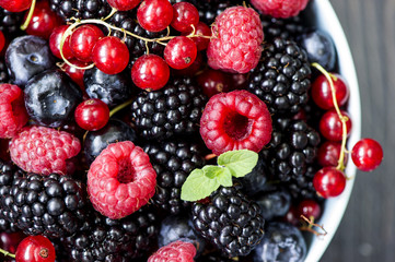 Freshly berry fruits